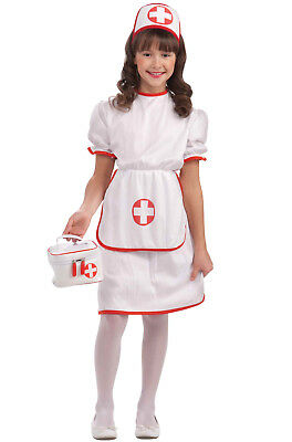 Brand New Adorable Doctor Nurse Girl Outfit Child Costume (S)