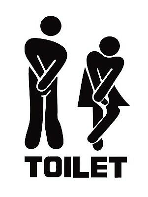 Toilet, Retro Vintage Metal Sign, Bathroom, Funny