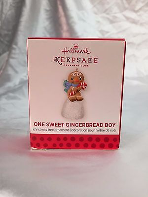 One Sweet Gingerbread Boy 2013 Hallmark MINI Member KOC Repaint Ornament Limited