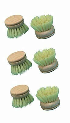 Brushmann Wooden Dish Brush Heads x6