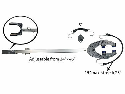 "Pactrade Marine Boat Trailer Motor Transom Support Bracket Dual Mount 34"" to 46"""