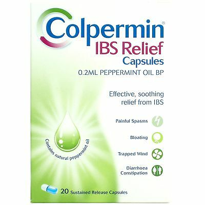 Colpermin IBS Relief Sustained Release Capsules - *** 20,40 , 60 or 100 Capsules