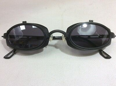 DOX Vtg New Sunglasses Model MGR Pewter/Blk Rare Cool Made In Japan 44 Goggle