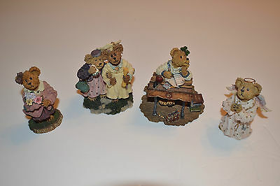 Lot Of 4 Boyds Bears&Friends,Bearstone Collection,Bear Figurines