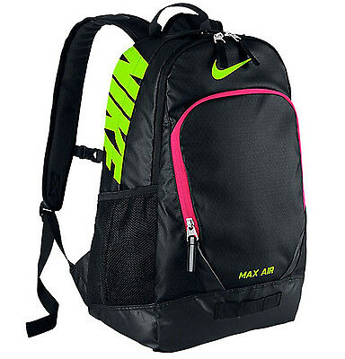 Nike Team Training Max Air Large Laptop Black/Green/Pink Backpack (BA4890-010)