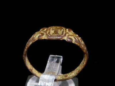 NICE WEDDING ANTIQUE BRONZE RING  FROM 19th –20th CENTURY, *T* LETTER!!!