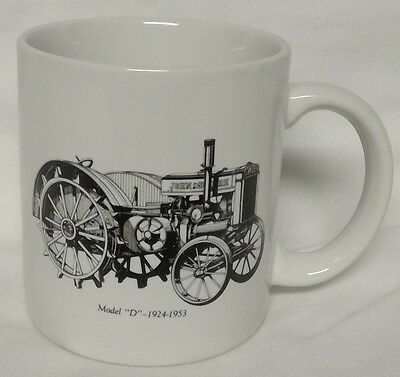 """John Deere White Mug """"Go With The Green"""" with Model D"""