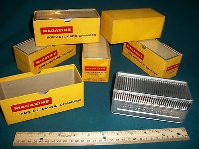 Vintage Lot of 6 Kodak Slide Magazines for Automatic Changer in Original Boxes