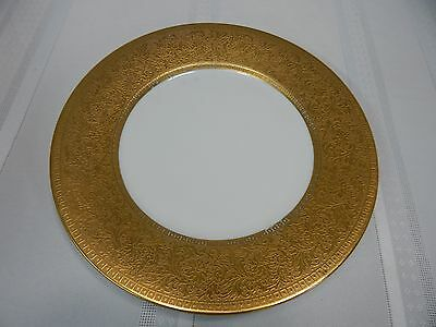 "Vintage! D.or"" Studios 18K Gold Inlay China Porcelain Dinner Plate"