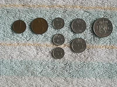 Lot of 8 Netherlands coins ~ 1950-1974