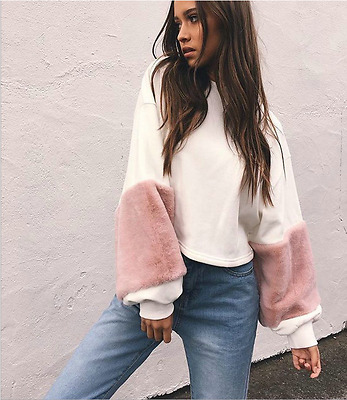 New Fashion Women Long Sleeve Loose Sweater Tops Autumn Casual Shirt Blouse Tops