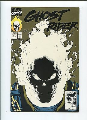 Marvel - GHOST RIDER #15 - July 1991 - Gold Reprint/Glow in the Dark cover - NM-