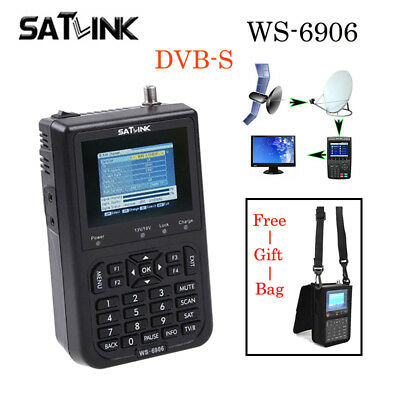 Original FTA Satlink WS-6906 Digital Satellite Finder DVB-S Satellite Meter LCD