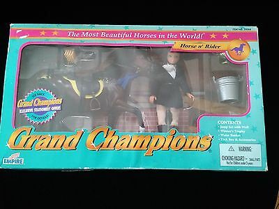 Grand Champions Horse n' Rider Play Set - Empire - 1995 - NOS