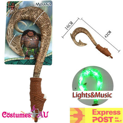 Moana Waialiki Maui Heihei Fishing Hook Weapon Light Action Figures Hot Sound