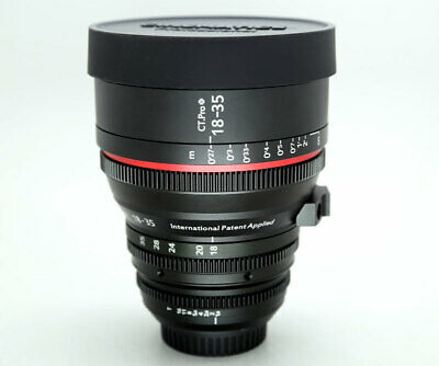 Cinematics sigma 18-35mm T2.0 Canon EF mount for CANON RED RAVEN BMCC BMPCC SONY
