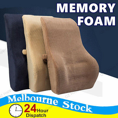 Black Brown Memory Foam Lumbar Back Support Car Truck Seat Travel Cushion Pillow