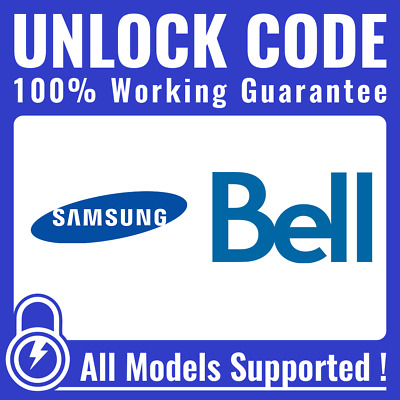 Unlock CODE for Bell Virgin - Samsung Galaxy S2 S3 S4 S5 S6 S7 S8