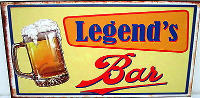 "Bar Door/wall Plaque Sign ""legend's Bar"" Great Father's Day Or Birthday Gift Bn"