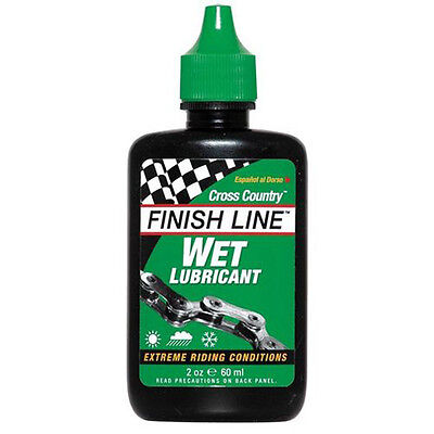 New Finish Line Cross Country Bike Wet Lubricant Lube Oil for Bicycle Chain 60ml