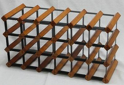 24 Or 21 Bottle Wine Rack-Borders Original -Mahogany -Free Freight