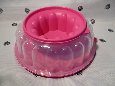 Tupperware  Bake 2 Basics Jel Ring Jelly Mould Pink New
