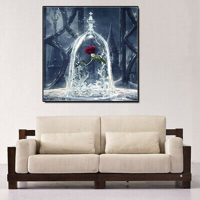 DIY 5D Rhinestone Diamond Embroidery Red Rose Painting Cross Stitch Home Decor
