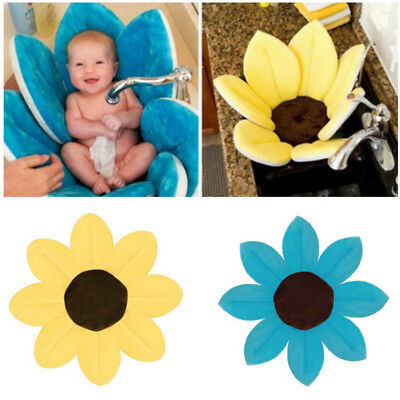 Light Blue Avoid Tub Baby Blooming Sink Baby Safety Flower Bath Gift For Baby UK