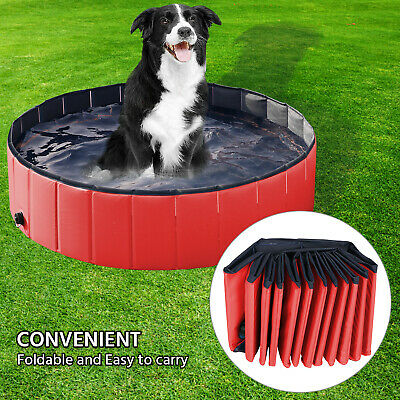Portable Folding Pet Swimming Pool Dog Cat Bath Animal Washing Large/Extra Large