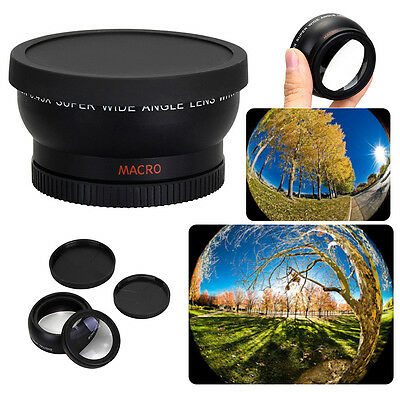 58mm 0.45X Super Wide Angle Lens For Canon EOS 1000D 1100D 500D Rebel T1i T2i T3