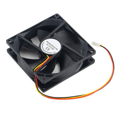 DC 12V Black 90mm x 90mm x 25mm 3 Pin PWM CPU Cooling Fan for Desktop Computer