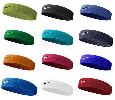 Various Colour Nike Swoosh Headband Gym Tennis Training Sweatband Sport Running