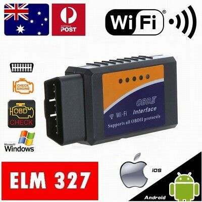 ELM327 OBDII OBD2 WiFi Car Engine Diagnostic Code Reader Scan iPhone Android OZ