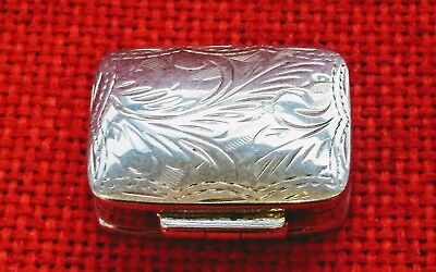 Fabulous Sterling Silver Pill Box~Patch~Stamp Box With London Hallmarks !!!