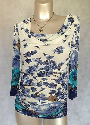 Maternity Sale Beautiful Brand NEW Flowery Blue Top Sizes 8,10,12,14,16