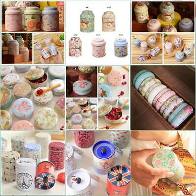 1pcs Metal Sugar Coffee Tea Tin Jar Container Candy Sealed Cans Storage Box