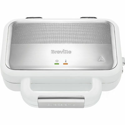 Breville VST074 Deep Fill Sandwich Toaster Removable Plates White / Stainless