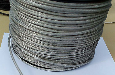 3MM X 50M Silver Dyneema® Fiber Synthetic Winch/ yacht rope tensile:900 kg --NEW