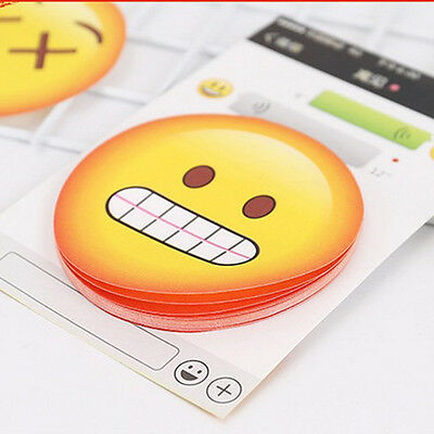 Cute Emoji Expression Face Self-Adhesive Writing Memo Pad Sticky Notes Bookmark