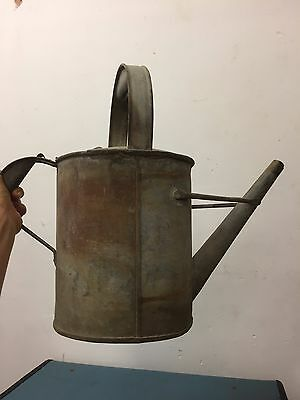 Vintage Galvanized Watering Can Planter Plant Pot Garden Decor French style