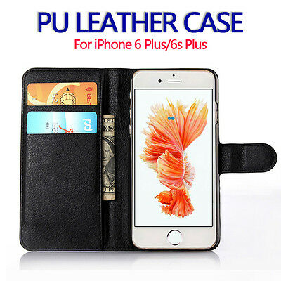 For Apple iPhone 6Plus Genuine Flip Wallet Leather Case Cover (B32
