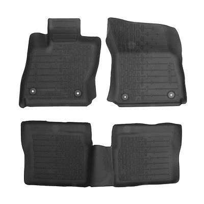 OEM NEW 17-18 Lincoln Continental All Weather Tray Type Black Rubber Floor Mats