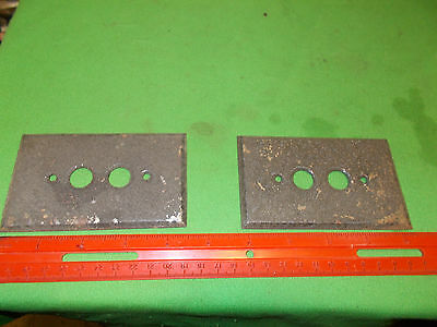 2 Vintage Steel Push Button Electric Light Switch Plate Covers