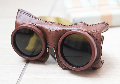 Authentic USSR Russian Army Mountain Sniper Goggles Sharpshooter Glasses+Case
