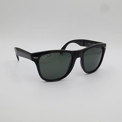fb315e01e96 Ray Ban Rb4105 Folding Wayfarer Sunglasses Glossy Black Frame Green ...