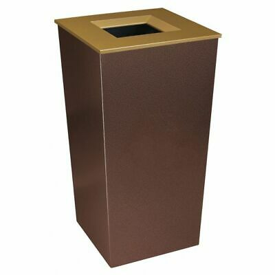 34 gal. Recycling Container Rectangular, Brown Steel TOUGH GUY 22N280