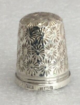 Vintage James Swann And Sons Solid Silver Thimble, 1975