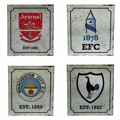 Football Club Team Retro Distressed Logo Crest Fan Wall Sign Official Sports