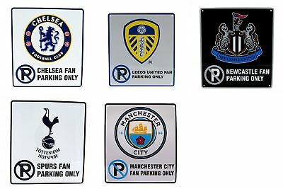 Football Club Team Fan Only No Parking Wall Sign Football Official Sports