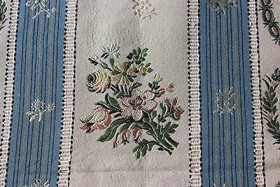 Antique French c1880 Silk Brocade Fabric Yardage~Style 18thC Marie Antoinette